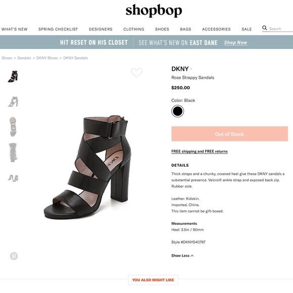 Dkny Shoes - DKNY Rose Strappy Sandal